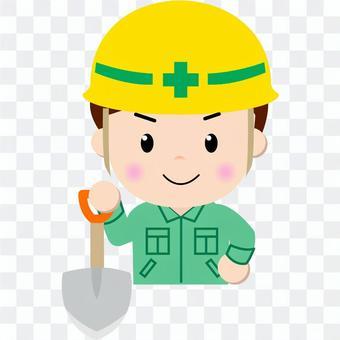 Construction worker _ upper body (scoop 2)