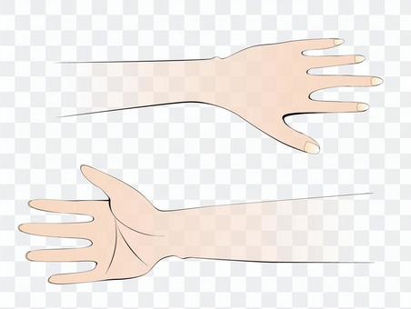 Table and back of hand (color)