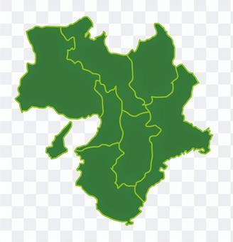 近畿地區地圖插圖