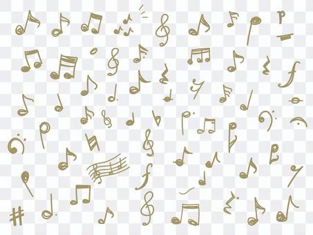 音符線條藝術插圖集 Forte