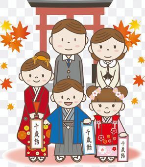 Shichigosan 15(父母子女,桃色牌坊)