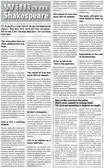 英文字母報紙 -