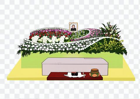 Flower and coffin