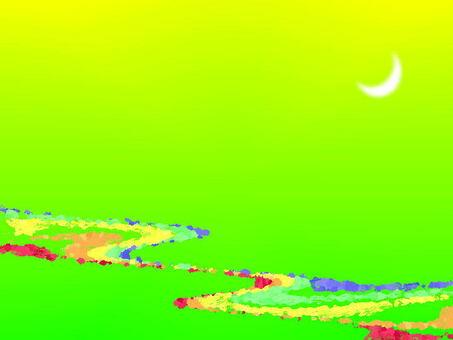 月亮和河流