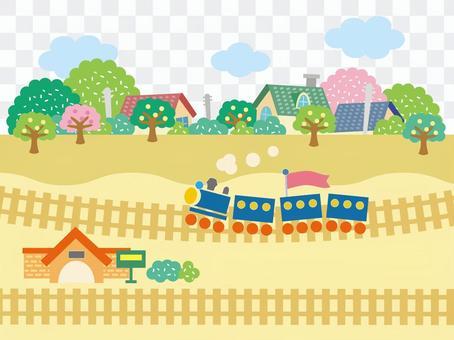火車運行的城鎮