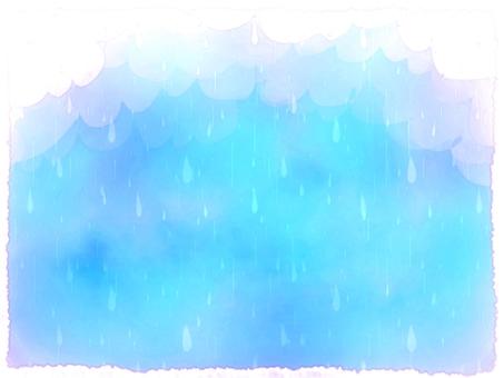 雨 雲 水彩 背景 2