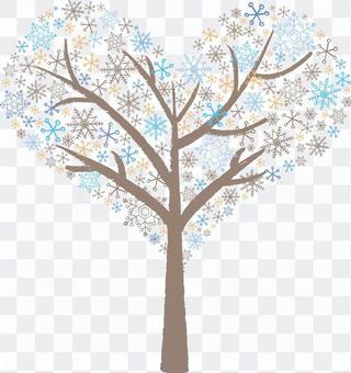 Snow crystal blue