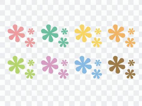 柔和的花朵