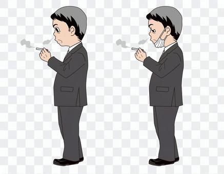 穿西裝的男人_香煙(帶主線)