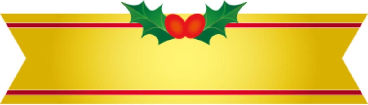 Christmas ribbon label gold