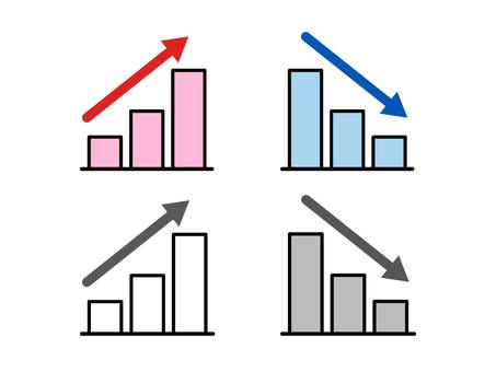 Graph icon_up / down set