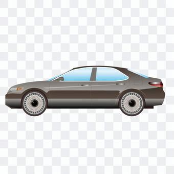 豪華轎車汽車的例證更正