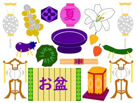 盂蘭盆節裝飾插圖集 1