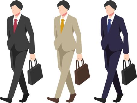 Illustration of a businessman Standing figure 2