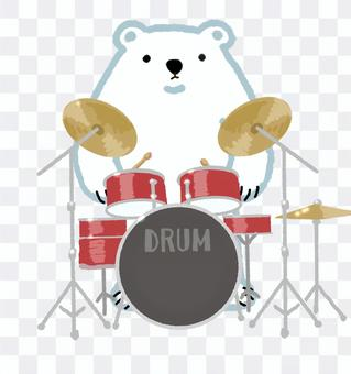 Polar bear series drummer