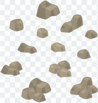 石・岩の組み合わせパーツセット:茶系