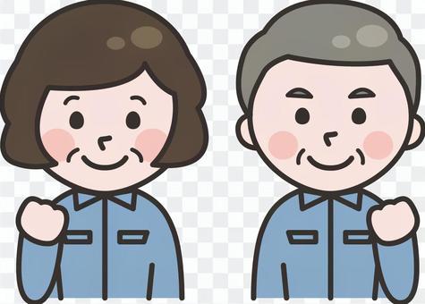 工人男人和女人_老年人