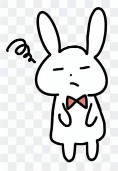 兔子驚呆了