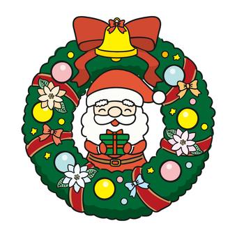 聖誕花環(聖誕老人和禮物)