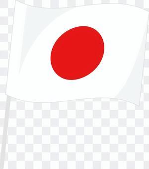 日本国旗(なびく)