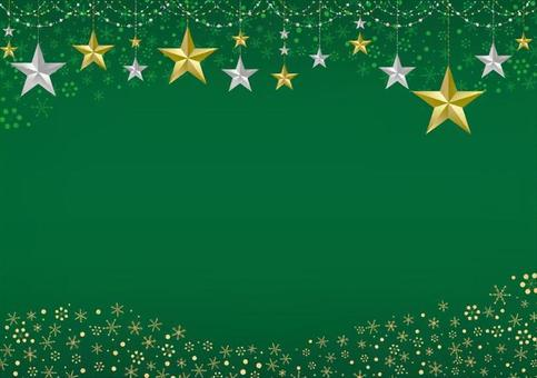 星裝飾框架綠色背景