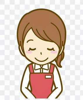 女性(店員):B_お辞儀03BS