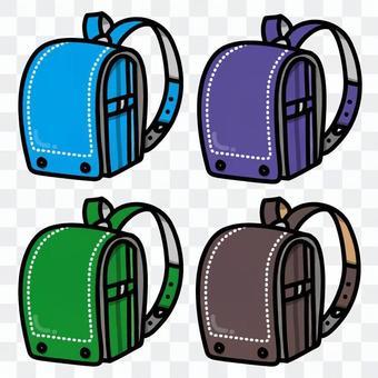 五颜六色的书包(为男孩)