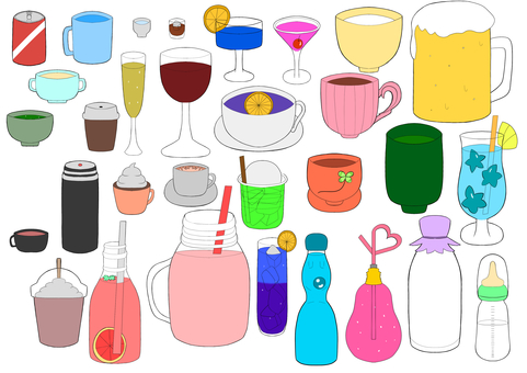 Various kinds of drinks se