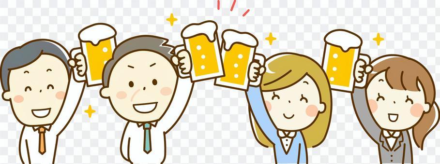 A salaryman who enjoys a drinking party