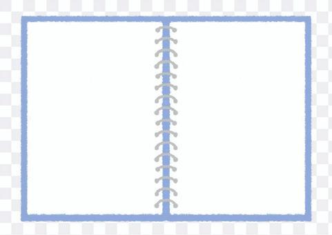 戒指筆記傳播手繪插圖_藍色