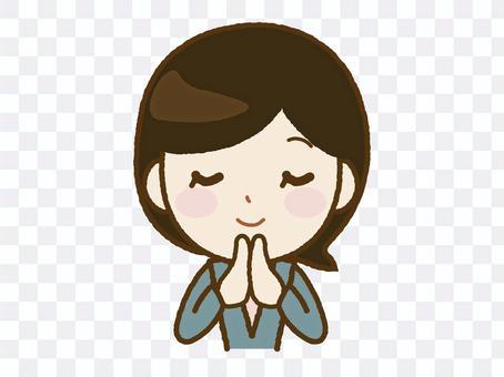 女老師祈禱A-64