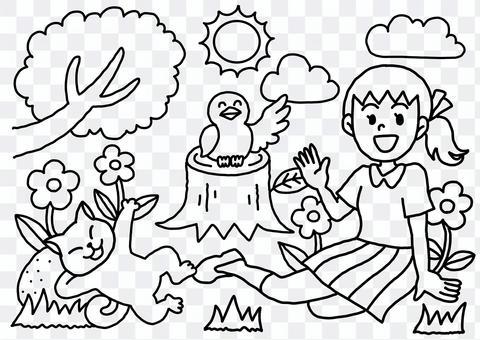 Hinata Bokko Coloring Book