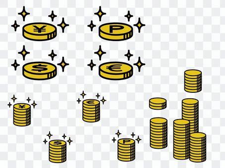 金錢/硬幣插圖<部分2>