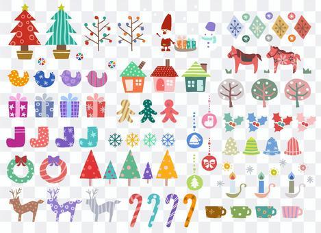 Christmas winter stock set Scandinavian style