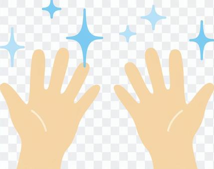 Hand shiny
