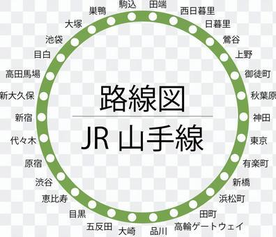 山手線路線図-円 高輪ゲートウェイ対応