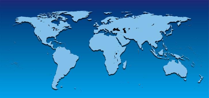World map_Africa center