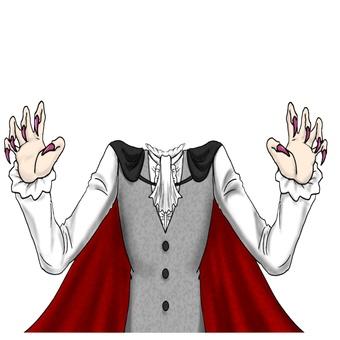 吸血鬼 Narikiri Cosplay 從胸部向上