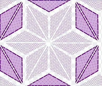 ai紫色麻葉圖案與色板