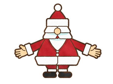 聖誕老人的水彩觸感蔓延雙手