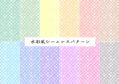 水彩風格無縫模式3