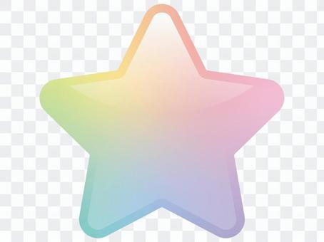 柔和的彩虹星圖標