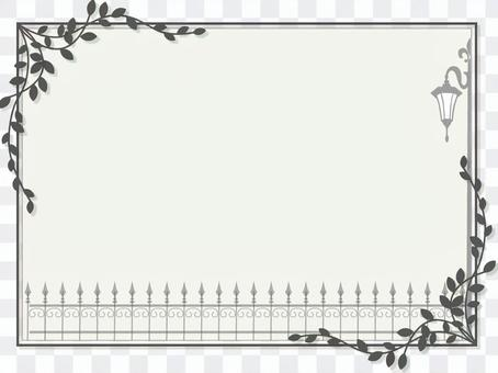 篱笆和路灯框架