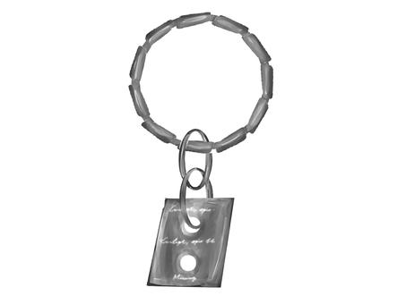 鑰匙扣銀 2