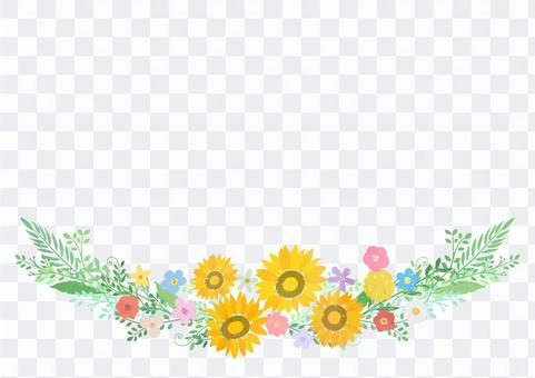 簡易向日葵裝飾框