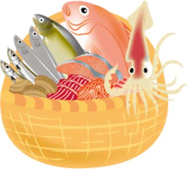 籠子裡裝滿鮮魚