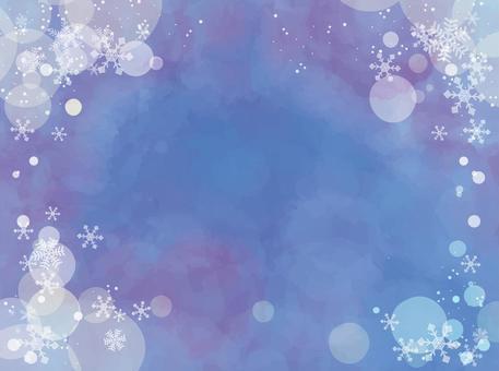 クリスマス背景素材 水彩ベクター045