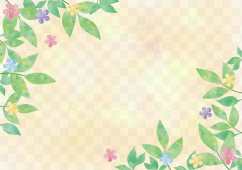 Vines and flowers _ Pastel background
