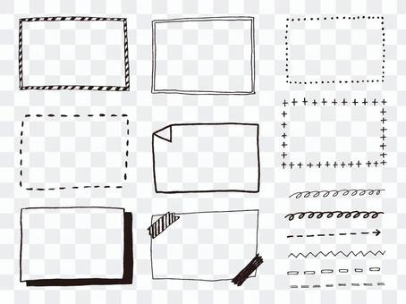 黑色和白色的手寫框架