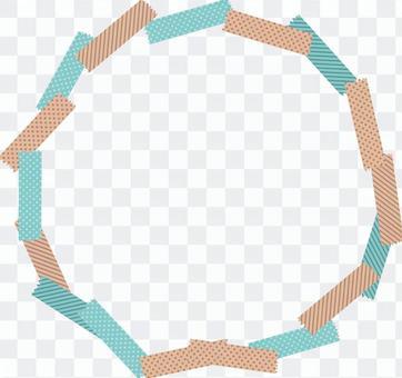美紋紙膠帶圓框